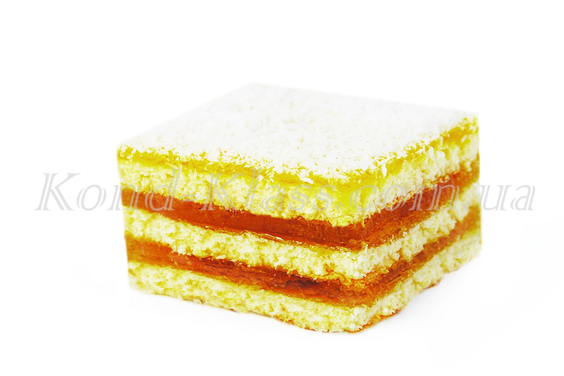 Бисквит с лимонным желе